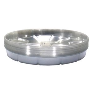 "SAUCER 16"" CLEAR PLASTIC (50)"