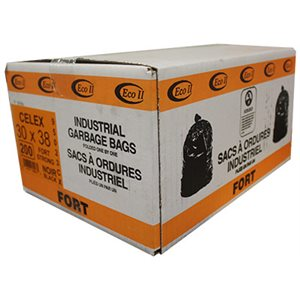 BAGS STRONG BLACK 30'' X 38'' (200)