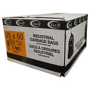 BAGS BLACK 35'' X 50'' 3 MIL. (50)