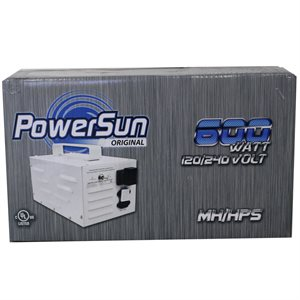 POWERSUN ORIGINAL TRANSFORMATEUR 600W HPS 120 / 240V (1)