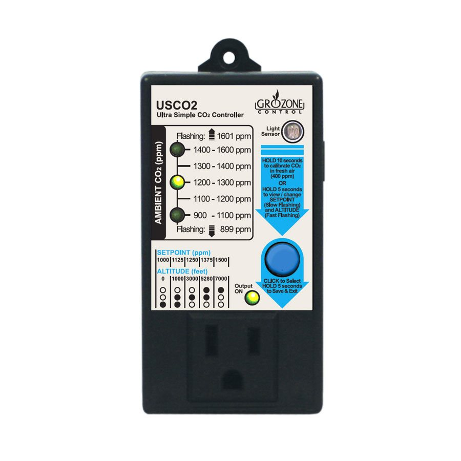 GROZONE USCO2 ULTRA SIMPLE CO2 CONTROLLER 0-1600PPM (1)