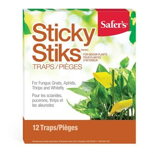 SAFER'S STICKY STICKS TRAPS (12)
