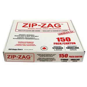 ZIP-ZAG ORIGINAL SACS LARGES 27.9 CM X 29.8 CM (150)