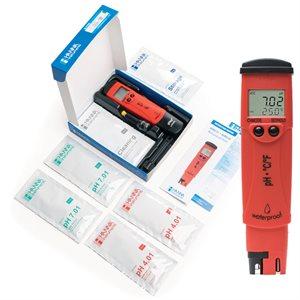 HANNA HI 98128 PHEP5 PH / T° TESTER (RED) (HI 73127) (1)